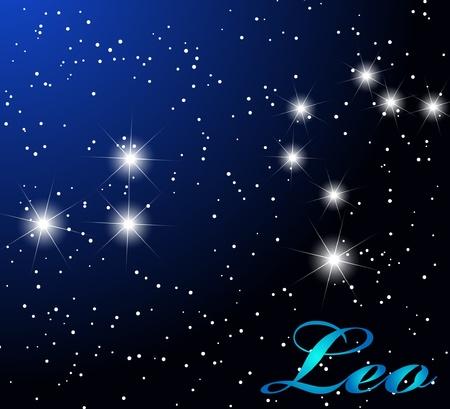 Leo astrological horoscope Stock Vector - 9293563