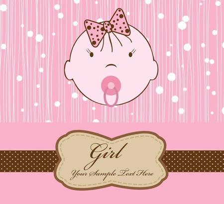 compendium: baby girl for scrapbook Illustration
