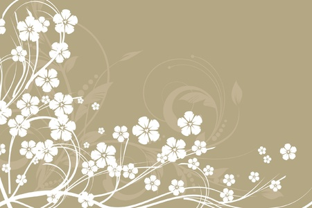 floral decorative abstract background