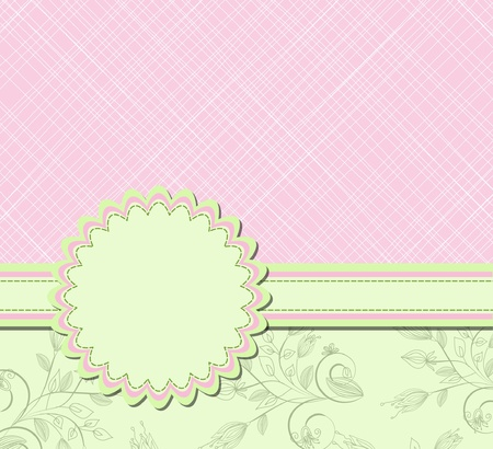 flower scrap background  Vector