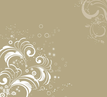 vector flower abstract decorative pattern Vector