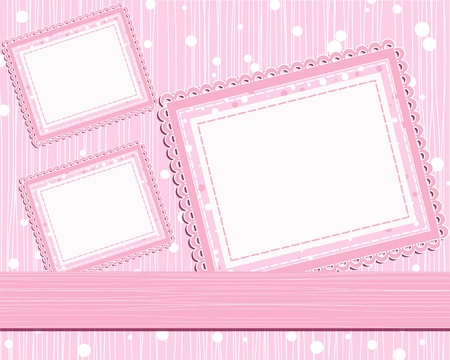 compendium: template photo card for scrapbook Illustration
