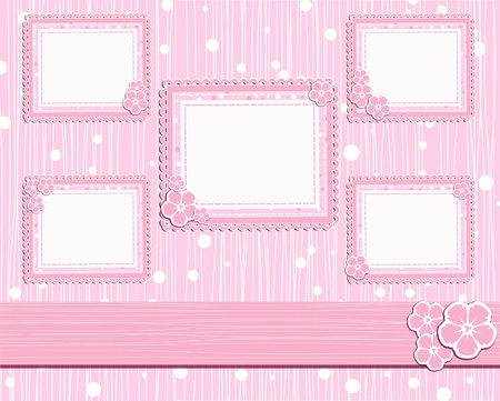 template foto card for scrapbook  Vector