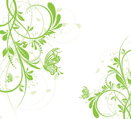 flower creative decorative abstract background butterfly