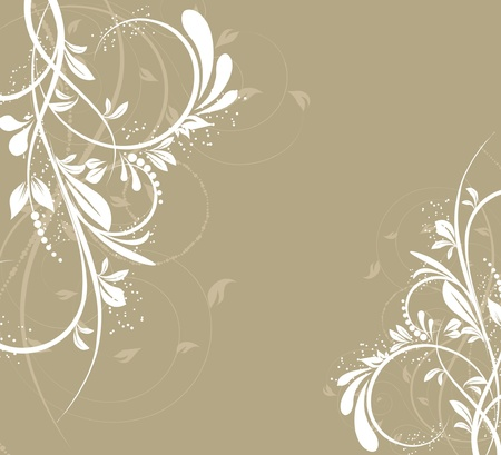 flower creative decorative abstract background Illustration