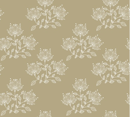 seamless floral decorative abstract background Vector