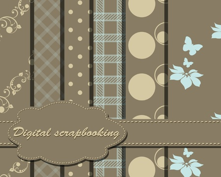 set of vector paper for scrapbook Stock Vector - 9929816
