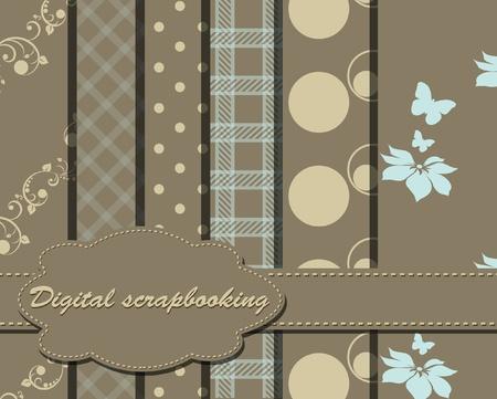 set of vector paper for scrapbook Illustration