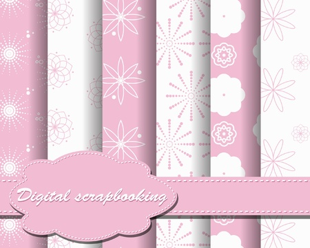 set of vector paper for scrapbook Stock Vector - 9936275
