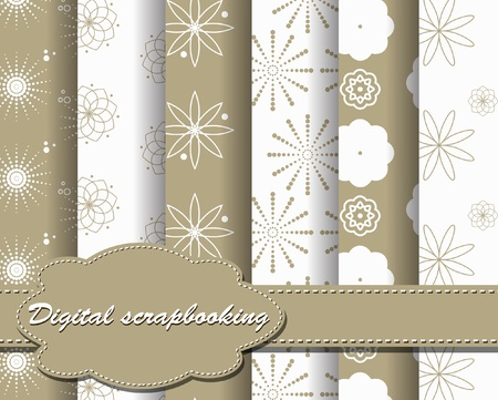 set of vector paper for scrapbook Vector