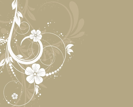 vector floral decorative abstract background Vector