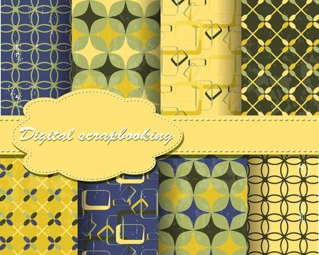 scrapbook paper: set of flower vector paper for scrapbook