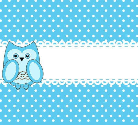 vector cute wise owls background for scrapbook Stock Vector - 10033359