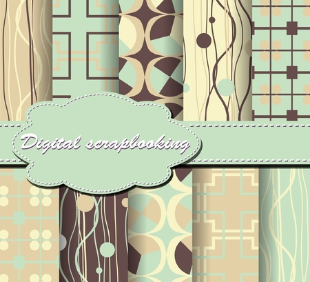set of paper for scrapbook Vector