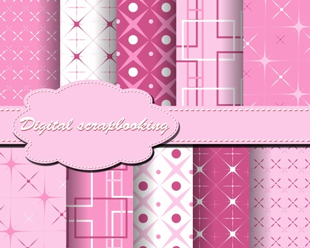 set of paper for scrapbook Stock Vector - 10342875