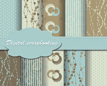 decoratively: set of paper for scrapbook