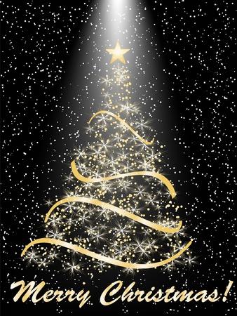 stylized Christmas tree on decorative background Stock Vector - 10344065