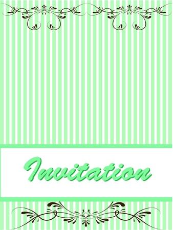 invitation decorative background Vector