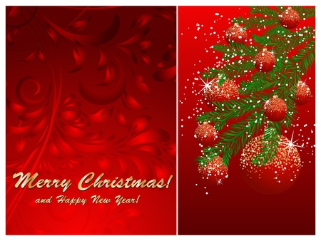 Christmas ball decorate card vector illustration Stock Vector - 10552382