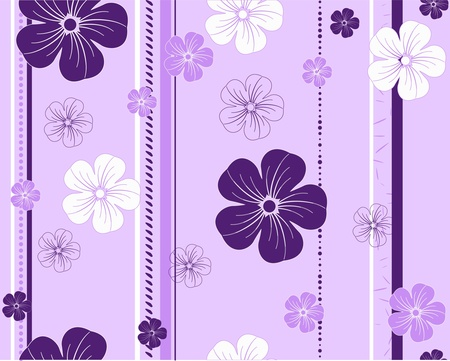 seamless flower pattern Illustration