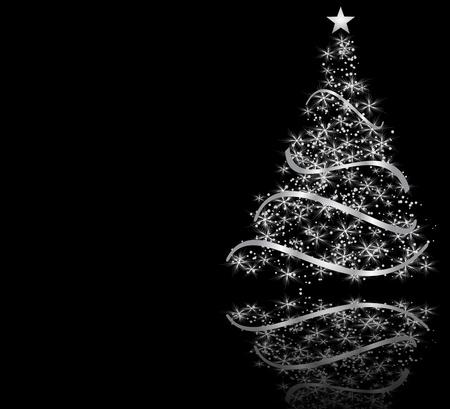 christmas tree: stylized Christmas tree