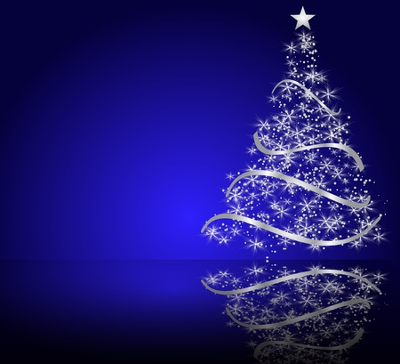 tannenbaum: stilisierten Weihnachtsbaum Illustration