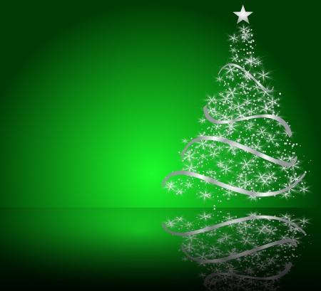 estrellas de navidad: estilizado árbol de Navidad