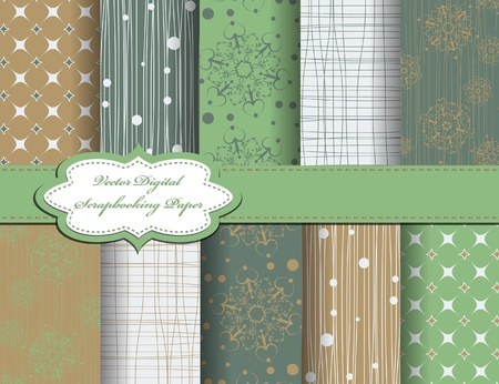 set of christmas snowflake vector paper for scrapbook Vector