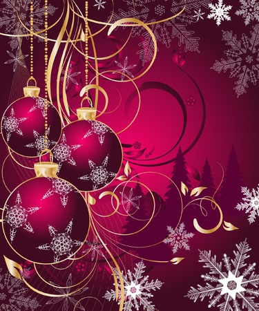 vector Christmas background  Ilustrace