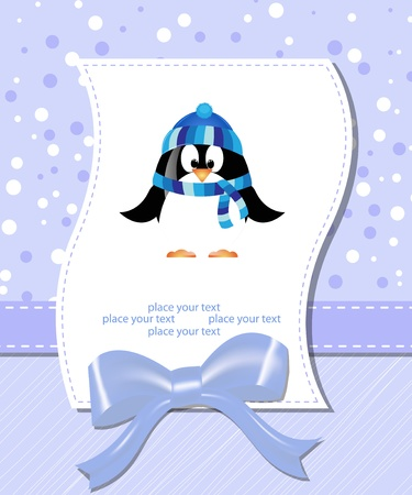 girls with bows: vector flower scrapbook background with pinguinum