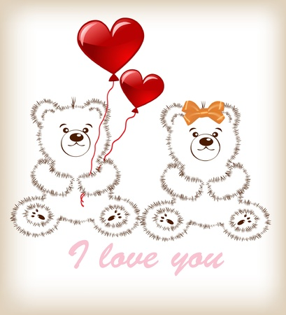 Valentines day teddy bear Stock Vector - 11847598