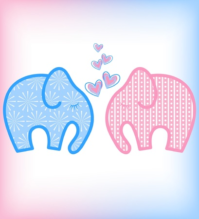 vector Valentines day elephant Stock Vector - 11959652