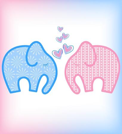 vector Valentines day elephant Stock Vector - 11959652