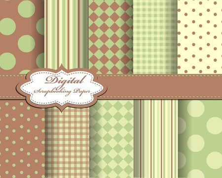 set of vector paper for scrapbook Stock Vector - 12077032