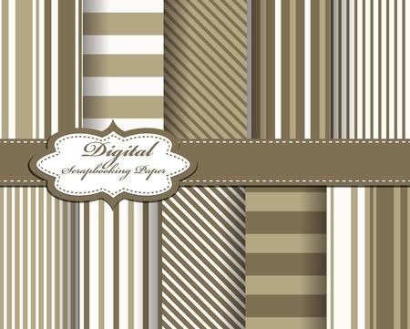 set of strip vector paper for scrapbook Stock Vector - 13185207