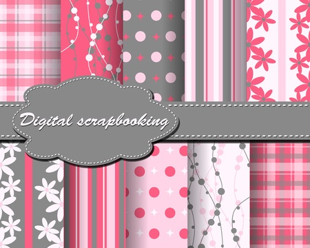 decoratively:  flower paper for scrapbook
