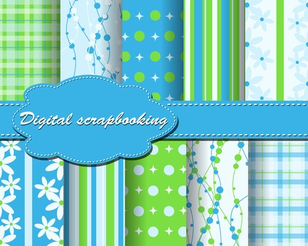 flower paper for scrapbook Vector