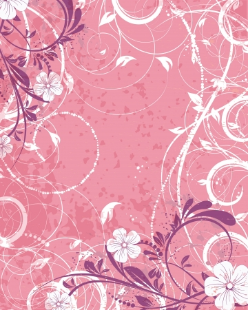 Retro wedding invitation, floral decorative abstract background Vector
