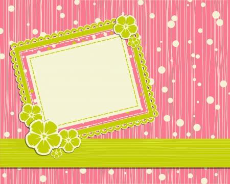 template foto card for scrapbook  Vector