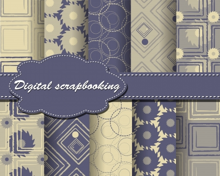 set of abstract paper for scrapbook Vector