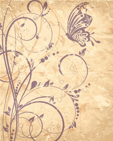 flower background with butterfly Stock Vector - 14491571