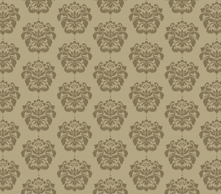 damask flower background Vector