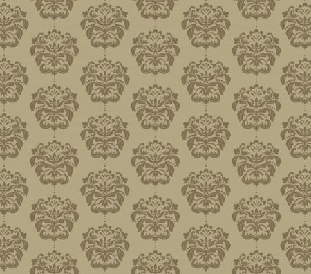 damask flower background Vector