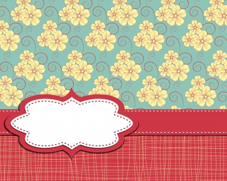 vector frame on flower background Vector