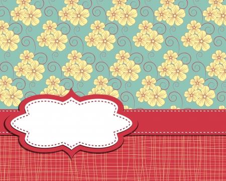 vector frame on flower background Stock Vector - 14666934