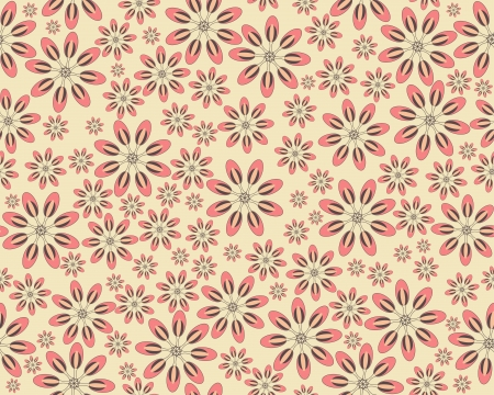 Seamless vector flower pattern Stock Vector - 14725080