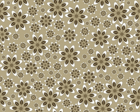 Seamless vector flower pattern Vector