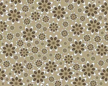 Seamless vector flower pattern Vector
