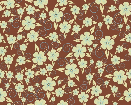 Seamless vector flower pattern Stock Vector - 14801883