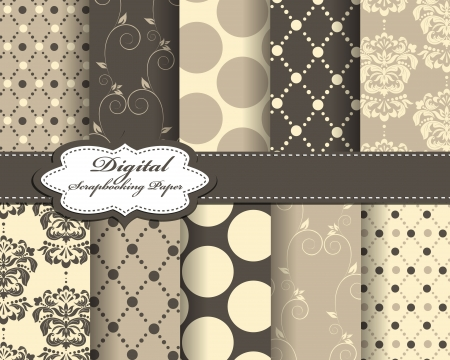 set of vector abstract paper for scrapbook Vector